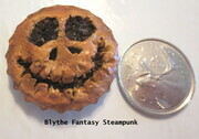 Jack Skellington bottle-cap pie fridge magnet