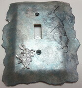 Alice in Wonderland white rabbit switchplate cover