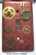 """All geared up"" lightswitch cover"