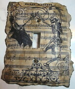 Danse macabre skeleton lightswitch cover