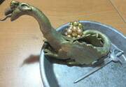 Dragon ring dish with treasure and sword