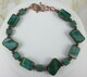 Emerald Czech glass copper bracelet