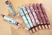 Faux marble copper fountain pens