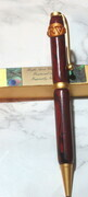 Faux rosewood monogrammed pen