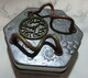 Hexagonal steampunk tin