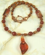Carnelian lily necklace