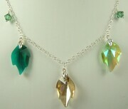 Swarovski crystal fall colours necklace