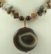 Onyx agate pendant necklace