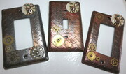 Kitty steampunk lightswitch covers