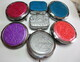 Mica shift purse mirrors and pill boxes
