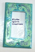 Mystical Garden Painted lightswitch cover