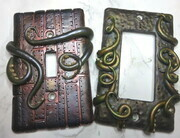Octopus steampunk light switch covers