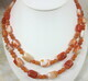Orange Botswana and orange calcite double strand necklace