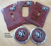 Platform 9 3/4 lightswitch covers and purse mirrors