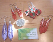 Polymer clay cane earrings