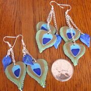 Polymer clay peacock earrings