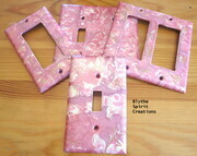 Pretty in pink lightswitch covers