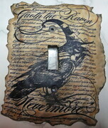 """Quoth the raven"" lightswitch cover"