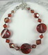 Red magma Swarovski crystal bracelet with Karen Hill Tribe silver clasp